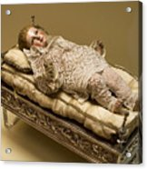 Baby Jesus In Lace Acrylic Print