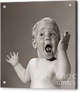 Baby Looking Excited, C.1960s Acrylic Print