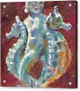 Baby Mermaid Avec Seahorses Acrylic Print