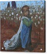 Baby Picking Cotton Acrylic Print