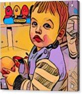 Baby Play Acrylic Print