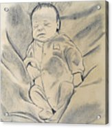 Baby Sleeping Acrylic Print
