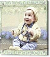 Baby Wears Beads Acrylic Print