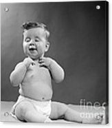 Baby With Vain Expression, 1950s Acrylic Print