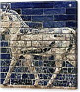 Babylon: Enamel Brick Bull Acrylic Print