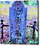 Baby's Grave Acrylic Print