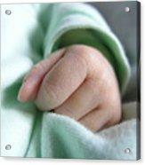Baby's Hand Acrylic Print