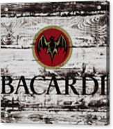 Bacardi Wood Art Acrylic Print