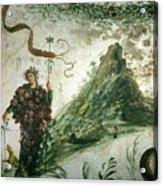 Bacchus, Roman God Of Wine, Stands Acrylic Print