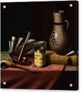 Bachelor S Table By William Michael Harnett Acrylic Print