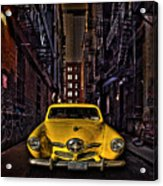 Back Alley Taxi Cab Acrylic Print
