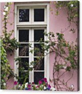 Back Alley Window Box - D001793 Acrylic Print