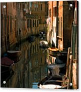 Back Canal In Venice Acrylic Print