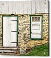 Back Entrance To An 1803 Amish Corn Barn  -  1803pacornbarn172779 Acrylic Print