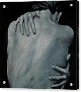 Back Of Naked Woman Acrylic Print