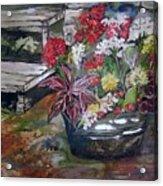 Back Porch Garden Acrylic Print