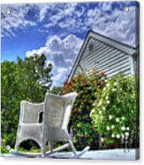 Back Porch In Summer Acrylic Print