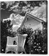 Back Porch Rocking Chair Acrylic Print