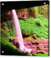 Back Side Of Silver Falls Acrylic Print