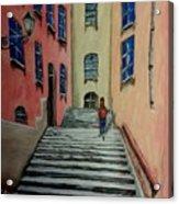 Back Street In France Acrylic Print