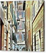 Back Street Lamp Acrylic Print