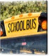 Back To School Bus Watercolor Acrylic Print