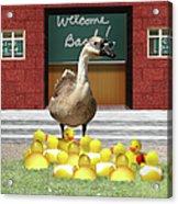 Back To School Little Duckies Acrylic Print