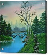 Back Woods Bridge Acrylic Print