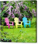 Back Yard Tranquility Acrylic Print by Jim  Calarese