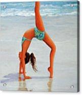Backflip At The Beach Acrylic Print