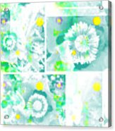 Colour Choice Poppy Collage Acrylic Print