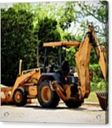 Backhoe And Loader 12118 Acrylic Print