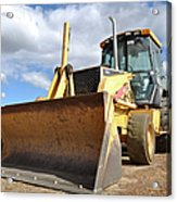 Backhoe Tractor Construction Acrylic Print