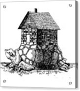 Backpack-house Acrylic Print