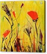 Backyard Flowers 2 Acrylic Print