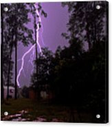 Backyard Lightning Acrylic Print