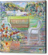 Backyard Porch Acrylic Print