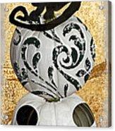 Bad Cat Halloween Acrylic Print