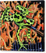Bad Froggy In Hell Acrylic Print