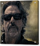 Badass Man In Sunglasses Stares Into The Unknown Acrylic Print