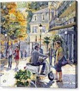 Baden-baden Sophienstr Last Warm Day Acrylic Print