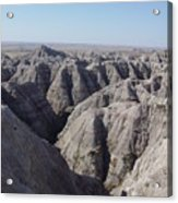 Badlands S.dakota Landscape  Acrylic Print