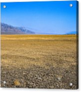 Badwater Basin In Death Valley Acrylic Print