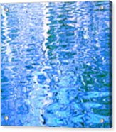 Baffling Blue Water Acrylic Print
