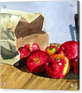 Bag With Apples Acrylic Print