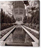 Bahai Temple Reflecting Pool Acrylic Print