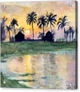 Bahama Palm Trees Acrylic Print