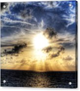 Bahama Sunset By Steve Ellenburg Acrylic Print