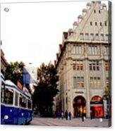 Bahnhofstrasse Zurich Acrylic Print