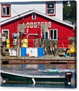 Bailey Island Lobster Pound Acrylic Print by Susan Cole Kelly